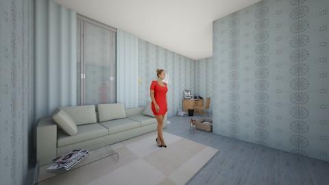 business woman home offic - Modern - Office  - by Nattawan Makkamontree