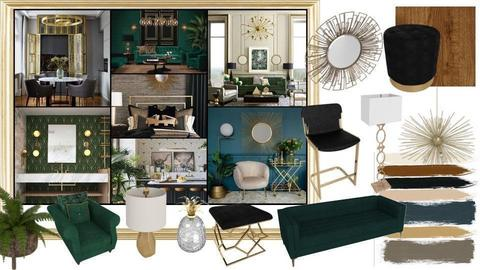 art deco moodboard - by Gabika0620