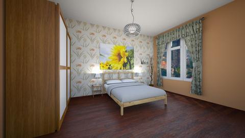 Sunflowers - Minimal - Bedroom  - by Twerka