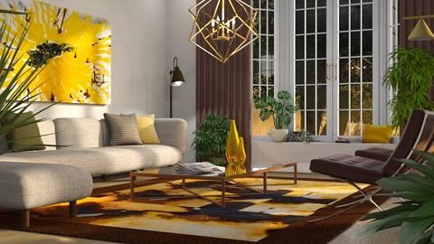 Sunflower Inspired - Living room  - by GraceKathryn