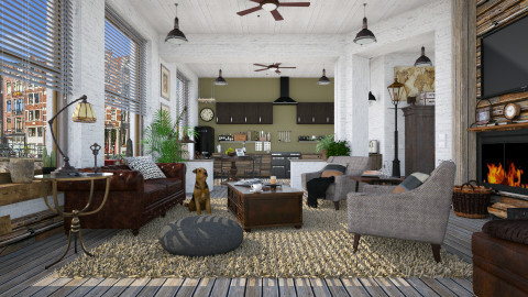 Gentleman - Masculine - Living room - by evahassing