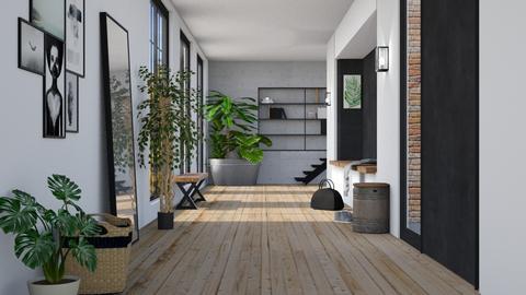 urban jungle hallway - by miadesign
