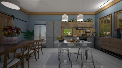 Modern Farmhouse Kitchen - by Themis Aline Calcavecchia