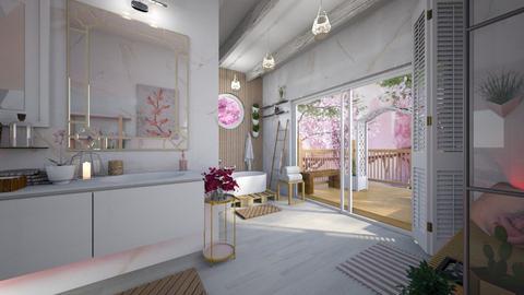 Cherry Blossom Bathroom - Bathroom  - by Slavicdoll