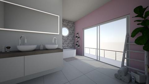 Cherry Blossom Bathroom - Bathroom  - by sillvie