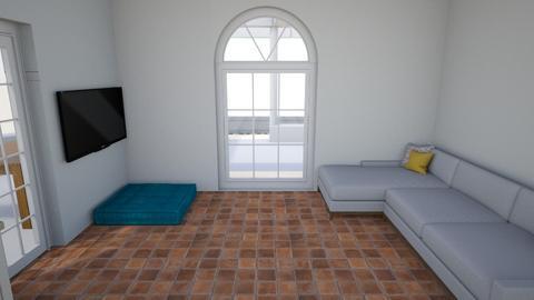 gaming_with_north_door - Retro - Living room  - by BoazHarrosh
