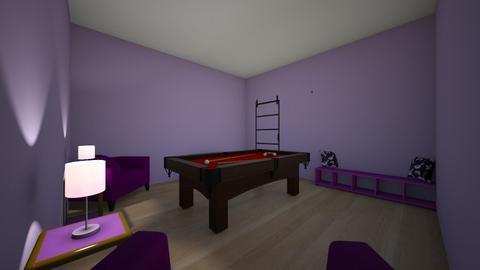 purple pool room - Modern - by pandamasterwon