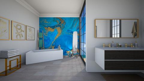 BLUE - Modern - Bathroom - by norkis