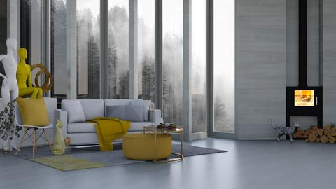 Misty_Grey n Yellow - Living room  - by KittyT6