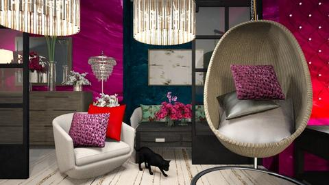 Colorful Egg Chair Room - by Yavanna