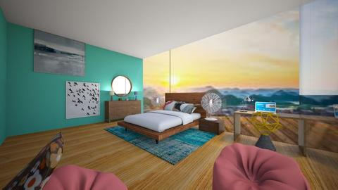 Beach house - Retro - Bedroom  - by deleted_1609868595_bleeding star