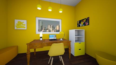 Yellow Office - Office  - by ashishereforfun