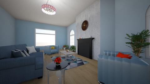 Asymmetrical balance - Living room  - by angeln1