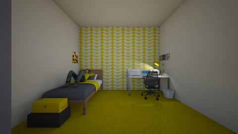 yellow - Minimal - Bedroom  - by Miyoko