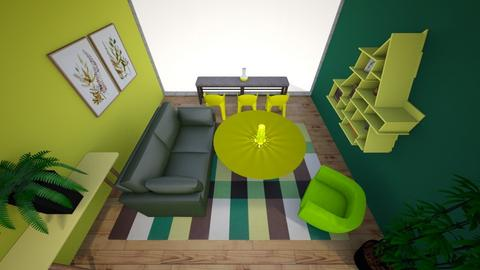 Yellow and Green Living Space - Eclectic - Living room  - by kamonela09