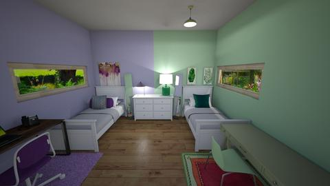 Twins room - Classic - Bedroom  - by crazyA