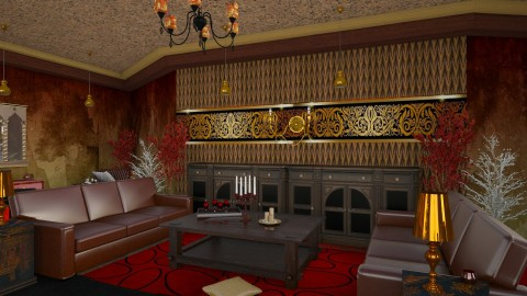 Rouge Gold - Rustic - Living room  - by ZsuzsannaCs