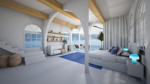 Greek Hotel Room - by elkell12
