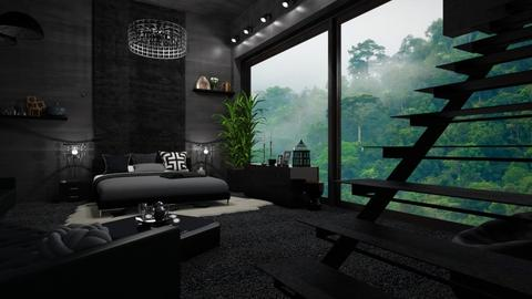 Black Soul - Modern - Bedroom - by Fareha Asif