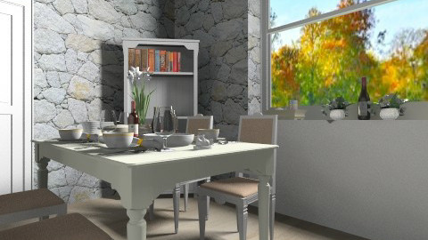 _Tavern_on_the_mountain_ - Country - Dining room  - by anjuska9