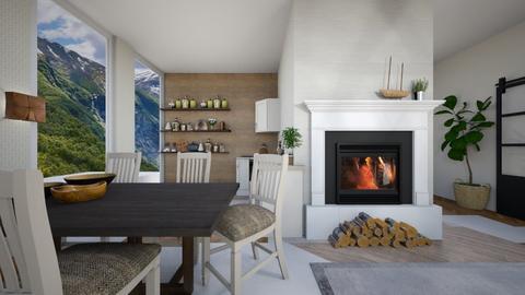 scandinavian dining - Dining room  - by abbysrooms