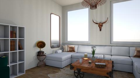 copper room finished - Living room  - by Doraisthe_nameofmydoggo12345