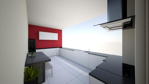 London council flat - Kitchen - by grahamoconnor