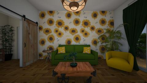 sunflower living - Living room  - by tigerlily_bel