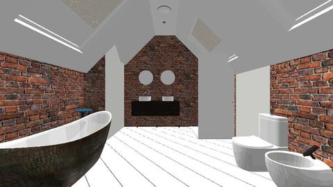 Attic Brick Bathroom - Rustic - Bathroom  - by jaiden2006