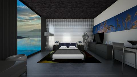 Allblack - Modern - Bedroom  - by Gre_Taa