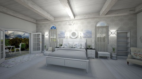 Shabby Chic White Bedroom - Classic - Bedroom  - by  krc60