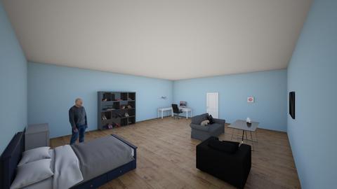 CUARTO - Modern - Bedroom  - by santixd uwu