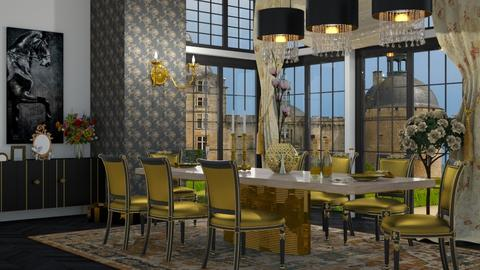 big windows - Dining room  - by nat mi