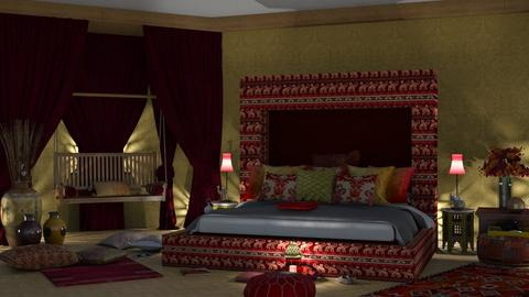 Sleeping India Colours - Rustic - Bedroom  - by nat mi