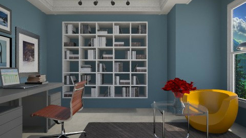 Blue Office - Masculine - Office  - by 3rdfloor