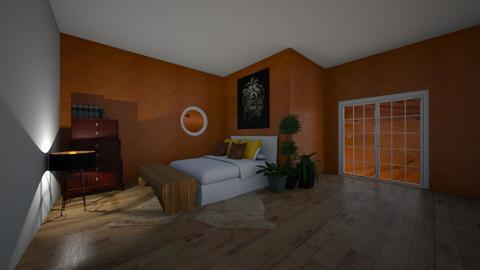 Orange Bedroom - Bedroom  - by riordan simpson