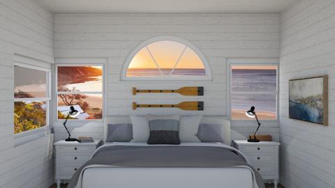 Small Coastal Bedroom - Bedroom  - by MilksDaBunz