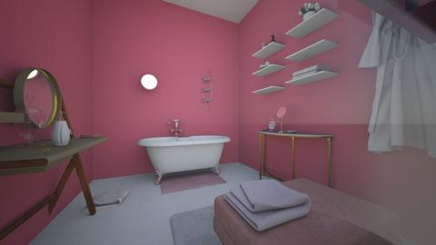 Glamour Pink Bathroom  - Glamour - Bathroom  - by MiDesign