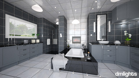 Slate - Classic - Bathroom  - by DMLights-user-981898