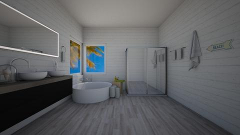 beachhouse masterbathroom - by KierraClumdesign