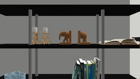 elephant theme chill den  - Rustic - Office  - by eugenia crutcher