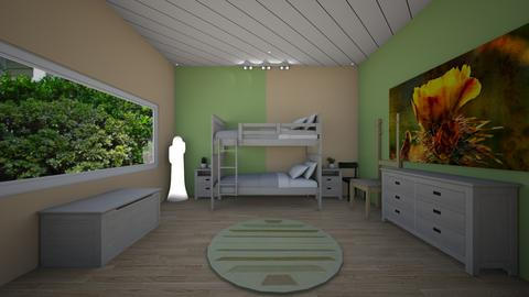 cactus twin room - Modern - Kids room - by jade1111