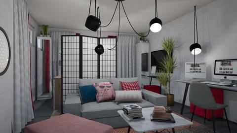 Bed and Hangout Room - Minimal - Bedroom - by chania