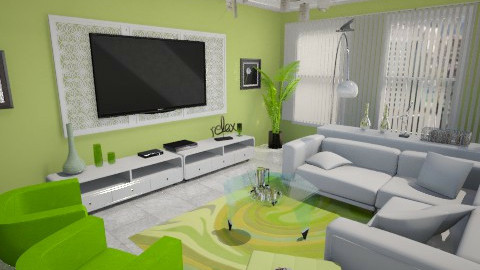 Sala de TV - Classic - Living room  - by Cassiane Pires