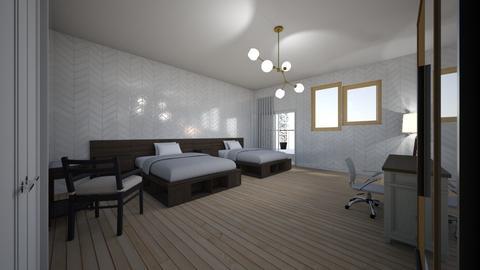 Habitacion Estandar - Modern - Bedroom  - by carlagomez07
