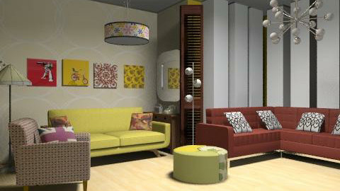 Audré - Retro - Living room  - by SariJo