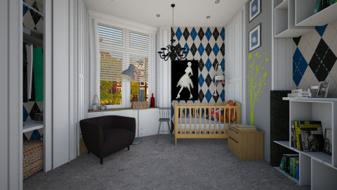 original nursery - Modern - Kids room  - by Evangeline_The_Unicorn