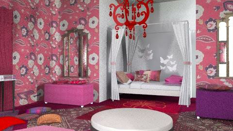 indian tale - Eclectic - Bedroom  - by chania
