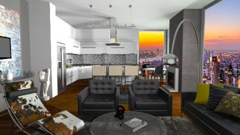 Sunset New York Loft - Modern - Office  - by sahfs