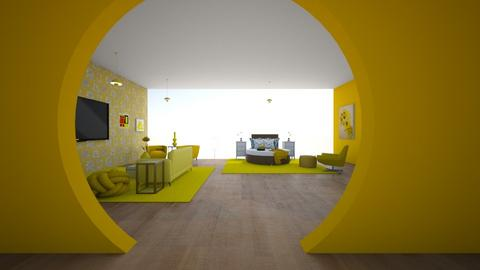 yellow knots - Bedroom  - by 7087755443